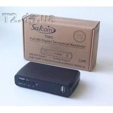 Цифровой эфирный Т2 ресивер Satcom T503 фото